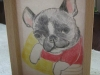 プレゼント用愛犬の絵