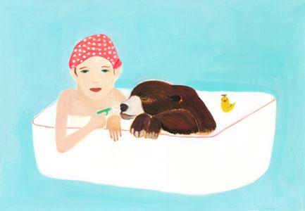 クマとお風呂